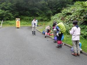 翌日は滝沢登山口から会津駒ケ岳を目指します