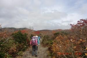 1.栗駒山に向かって登山開始