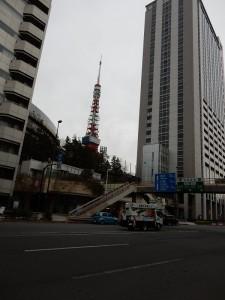 ビルの谷間に東京タワー
