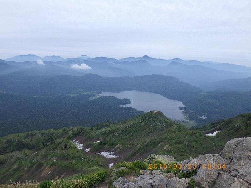 山頂から尾瀬沼