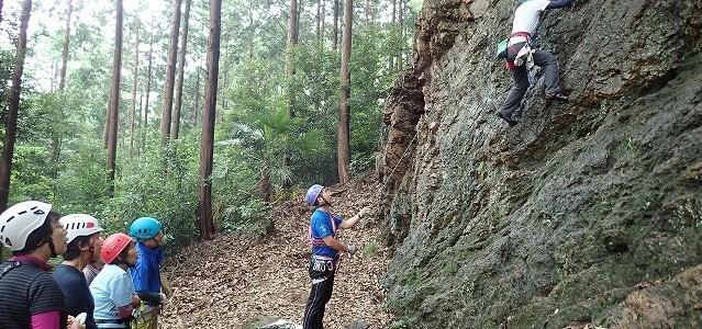 2019/7/21 岩登り訓練(天覧山岩場)